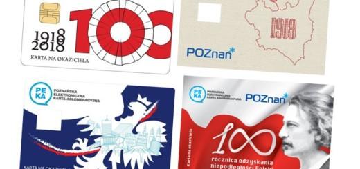 Karty PEKA na okaziciela 100 lat niepodległości Polski